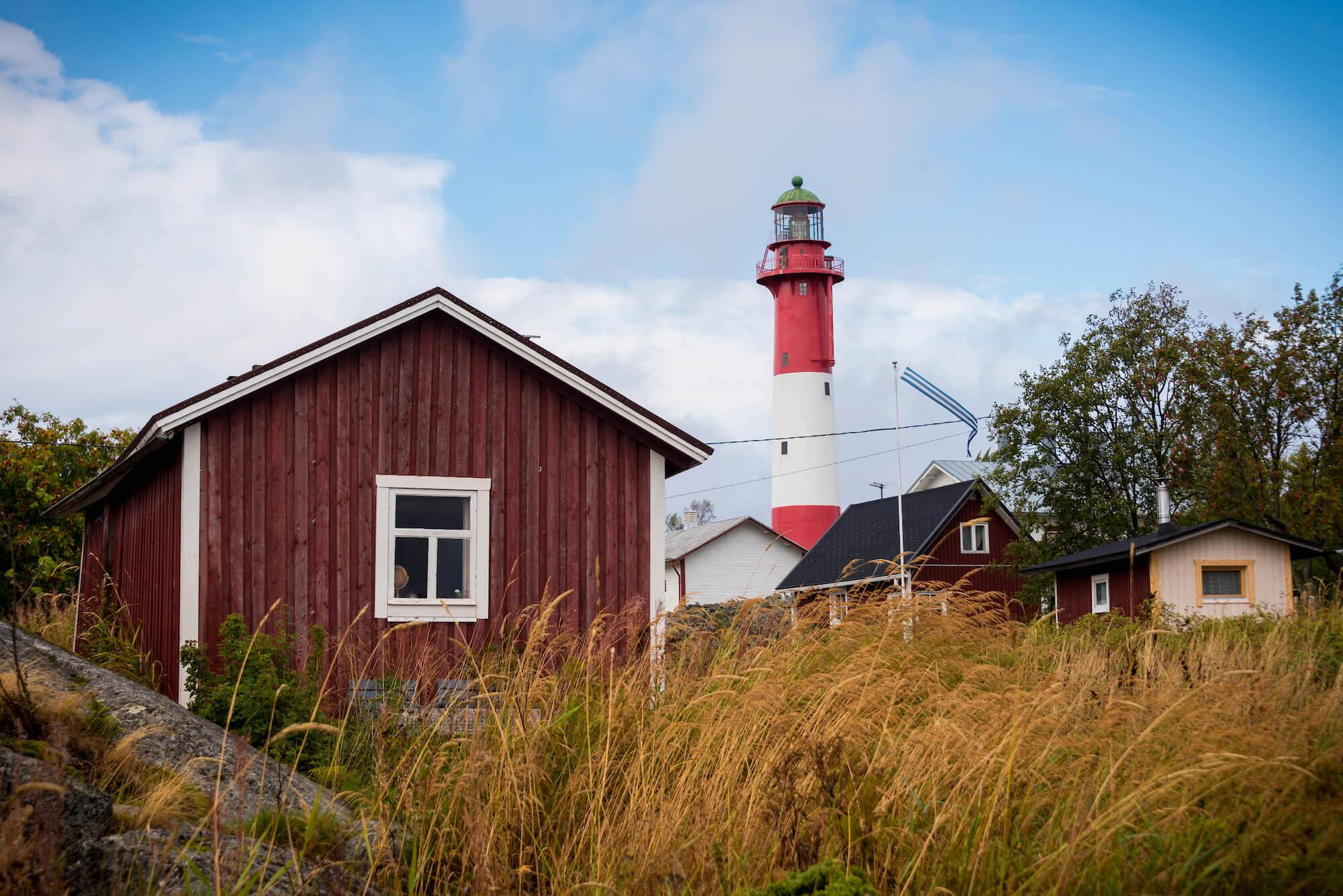 Fischerdorf auf der Insel Tankar vor der Küste Finnlands