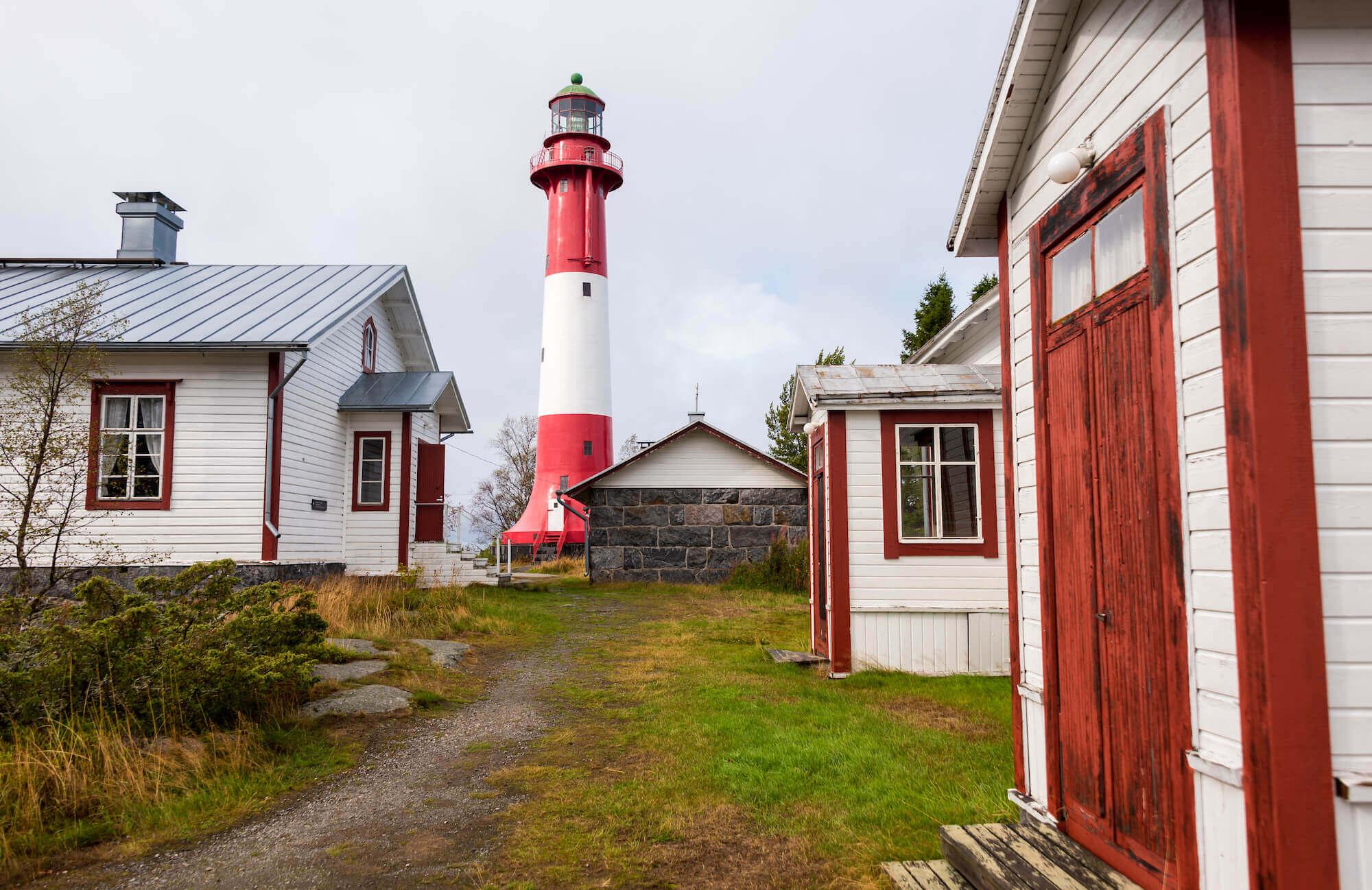 Der Leuchtturm Auf Der Insel Tankar Vor Der Küste Finnlands